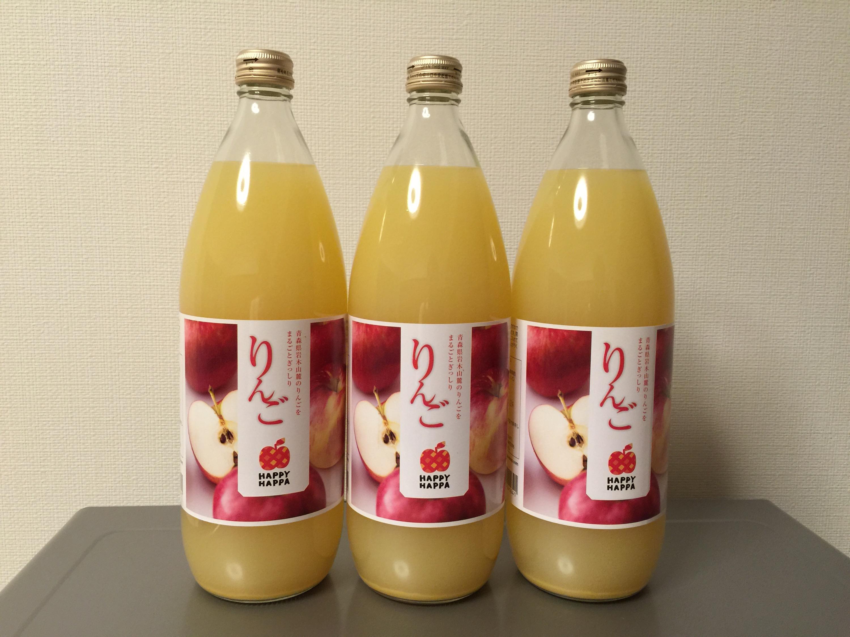イーサポートリンクから株主優待のリンゴジュース3本