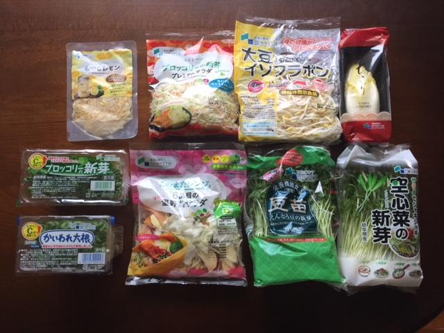 美樹工業から株主優待届きました サラダコスモの新鮮発芽野菜セット