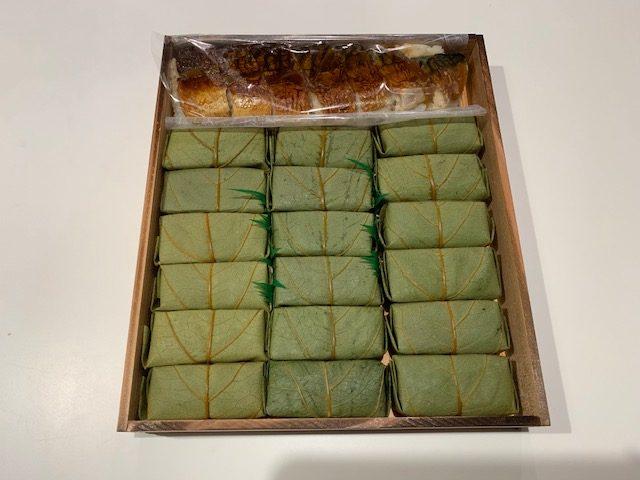 吉野町にふるさと納税 柿の葉ずし・焼さばずし 全部美味しかったです!