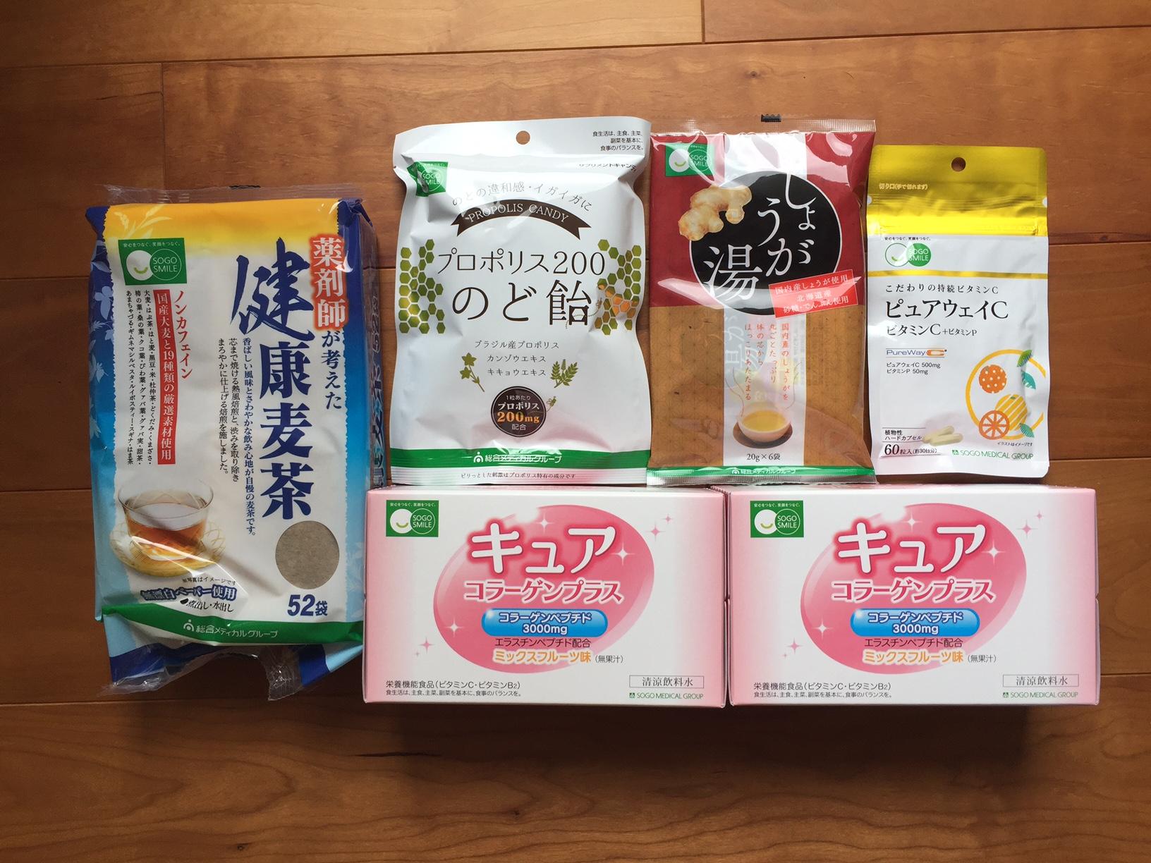 総合メディカルの株主優待 6,000円相当のPB商品セット