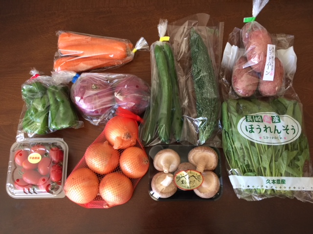 鹿島市にふるさと納税 5,000円で「肥前の国の野菜詰合せセット」いただきました